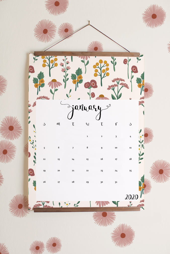 2020 Printable calendar (in English, Spanish, French etc) - Instant download