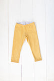 Reversible leggings in frosted leaves/mustard yellow