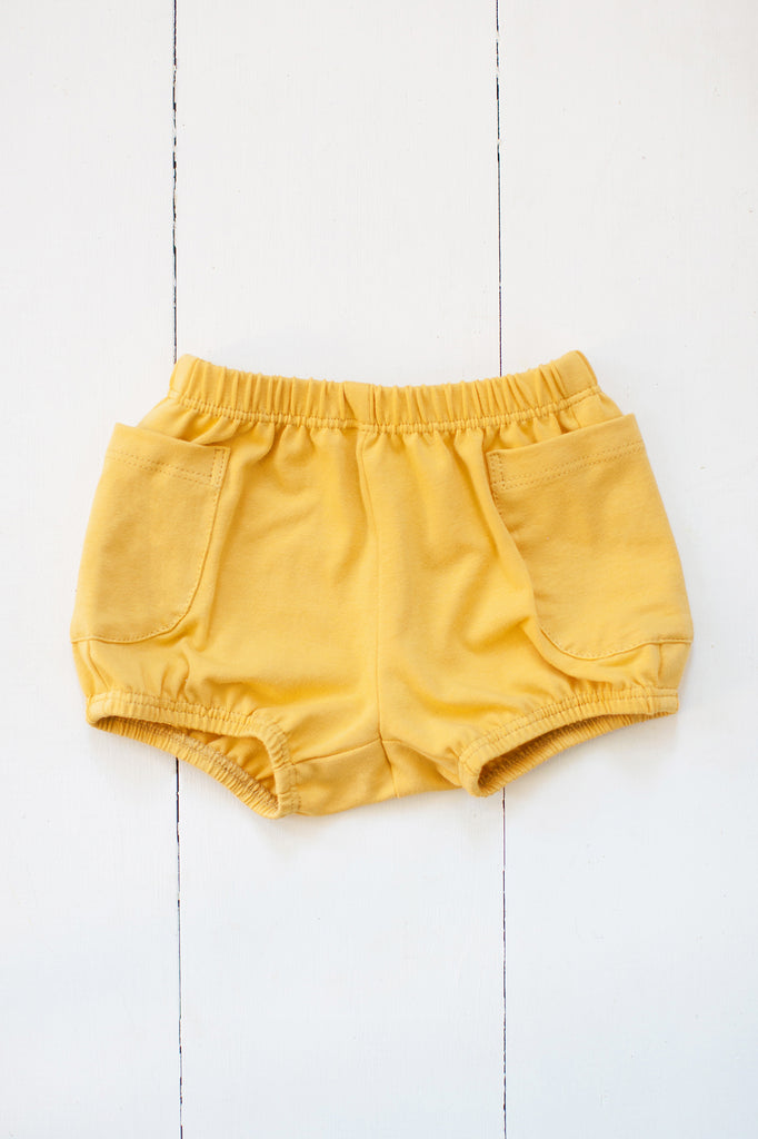 Bloomers in mustard yellow