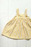 Jumper dress in yellow stripes
