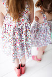 Jumper dress in Midsummer floral