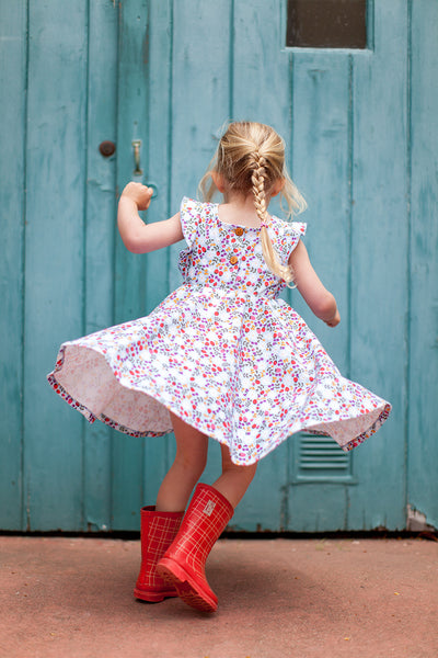 Ruffle twirl dress in Midsummer floral