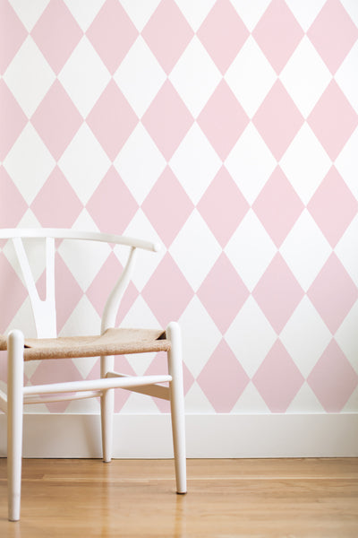 Lily's bedroom removable wallpaper - Pink