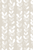 Frosted leaves removable wallpaper - grey