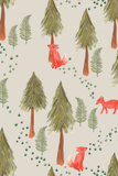 Fox in the forest removable wallpaper