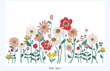 Flower Garden removable wallpaper mural - white