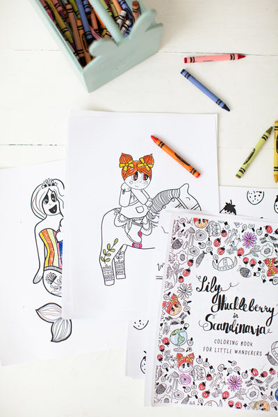Coloring book (downloadable pdf) | Lily Huckleberry in Scandinavia