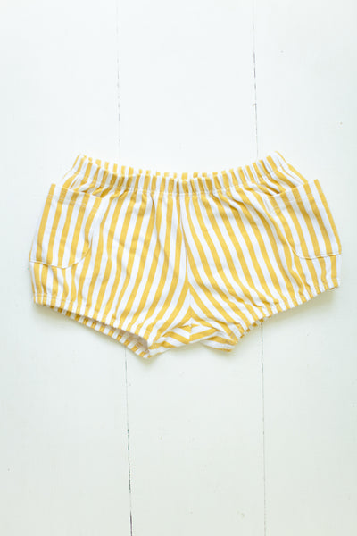 Bloomers in mustard stripes