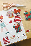 Lily Huckleberry paper doll - instant download