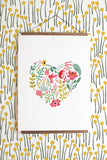 Hummingbird love print