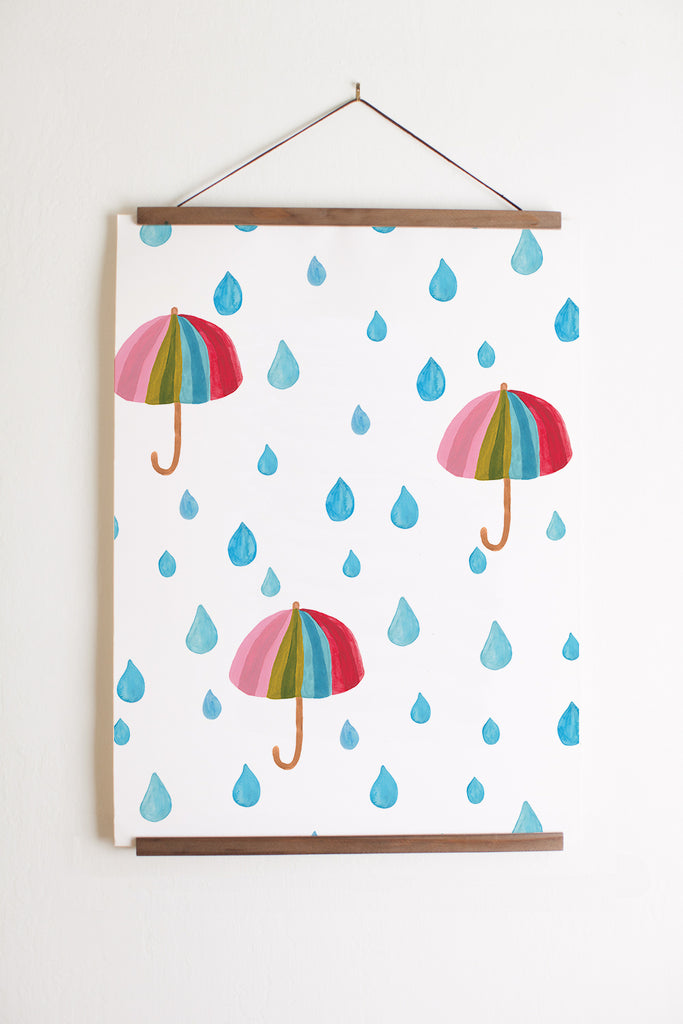 Rainbow umbrellas print