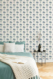 Tea & Crumpets removable wallpaper - off-white (English Afternoon collection)
