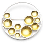 Virginia Wynne Gold Leaf Bubble Brooch