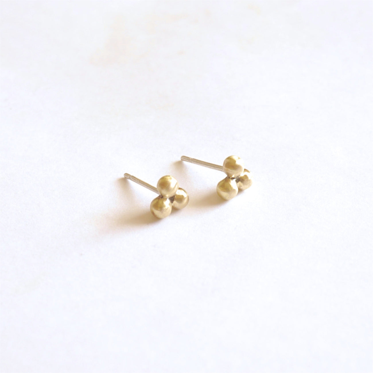 Understated and Stylish Hand-Made Three Ball Stud Earrings  - 0243 - Virginia Wynne Designs