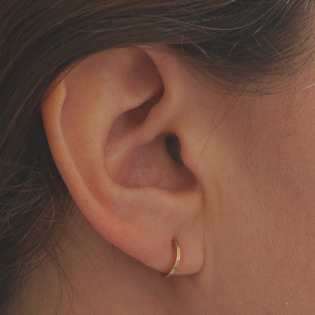 Exceptionally Designed Hand-Crafted Tiny Ear Hugging Hoop Studs - 0228 - Virginia Wynne Designs