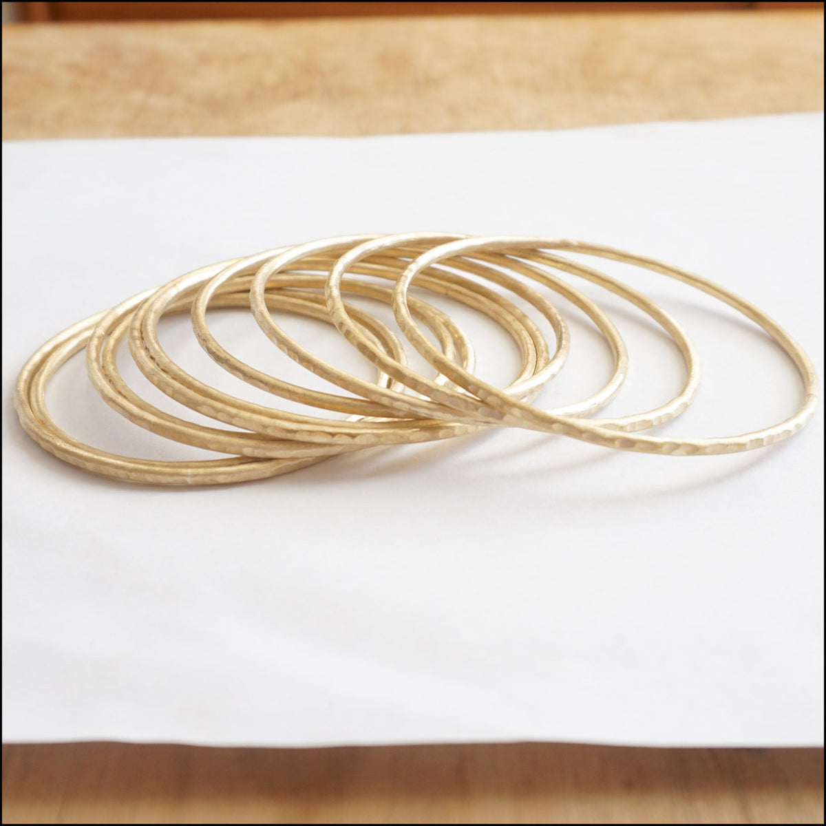 Classic Bohemian Bangle Bracelets, Hand-Made and Hand Textured - 0210 - Virginia Wynne Designs