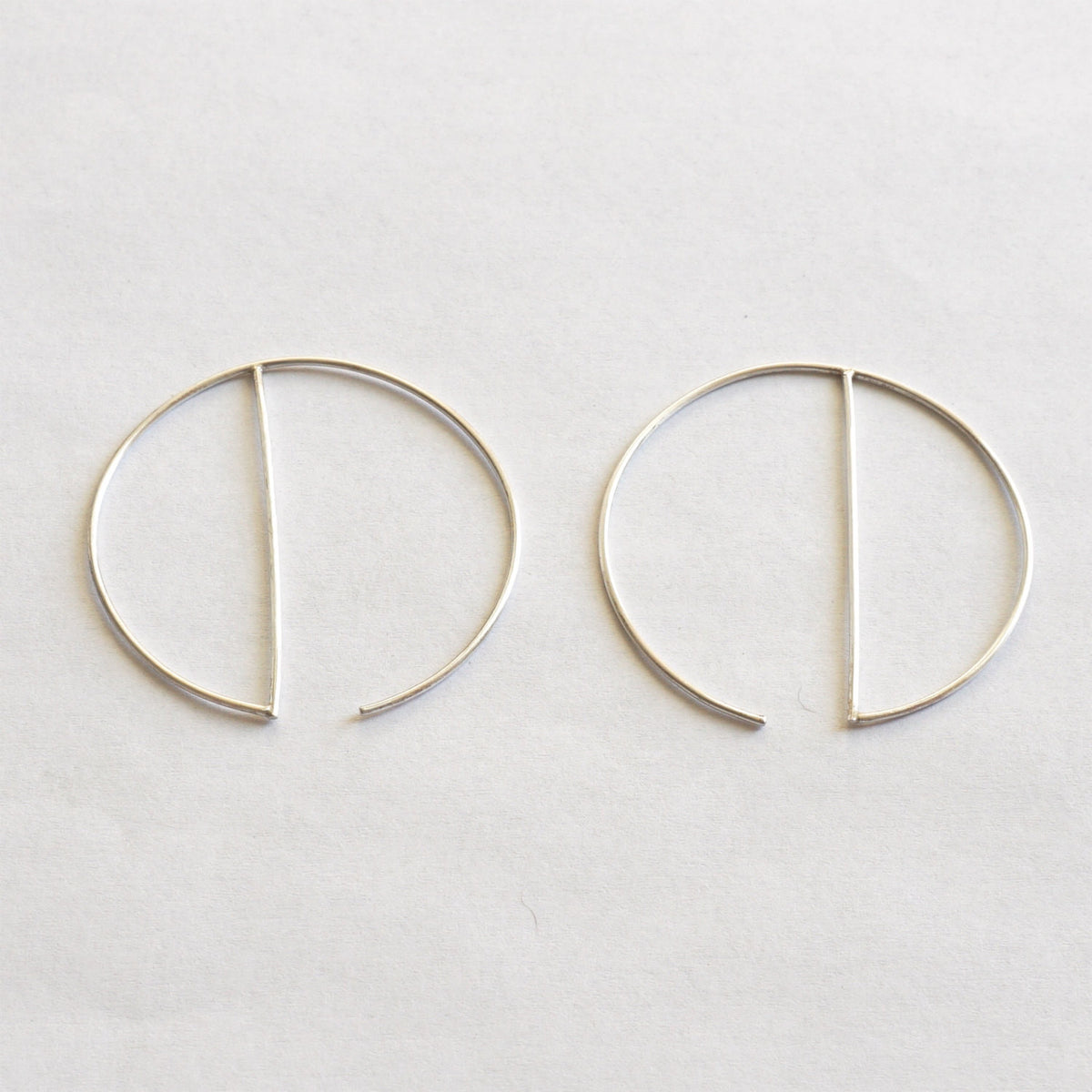 Contemporary Designed - Minimalist and Hand-Made, Open Hoop Dangle Earrings - 0259 - Virginia Wynne Designs