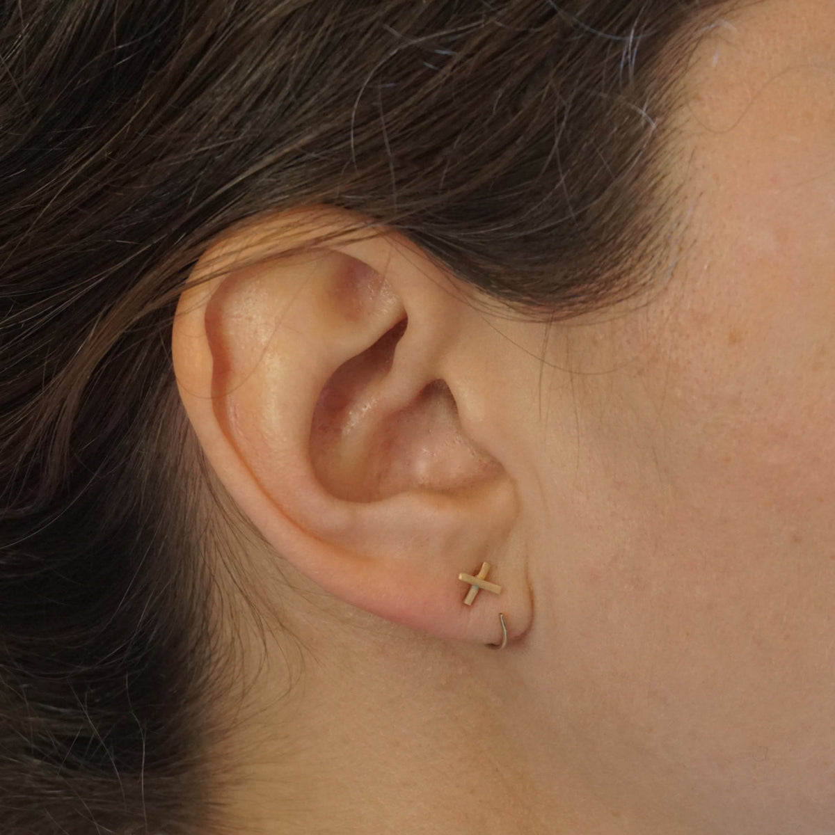 Hand-Made Modern Chic X Staple, Ear Hugging Hoops -  0269 - Virginia Wynne Designs