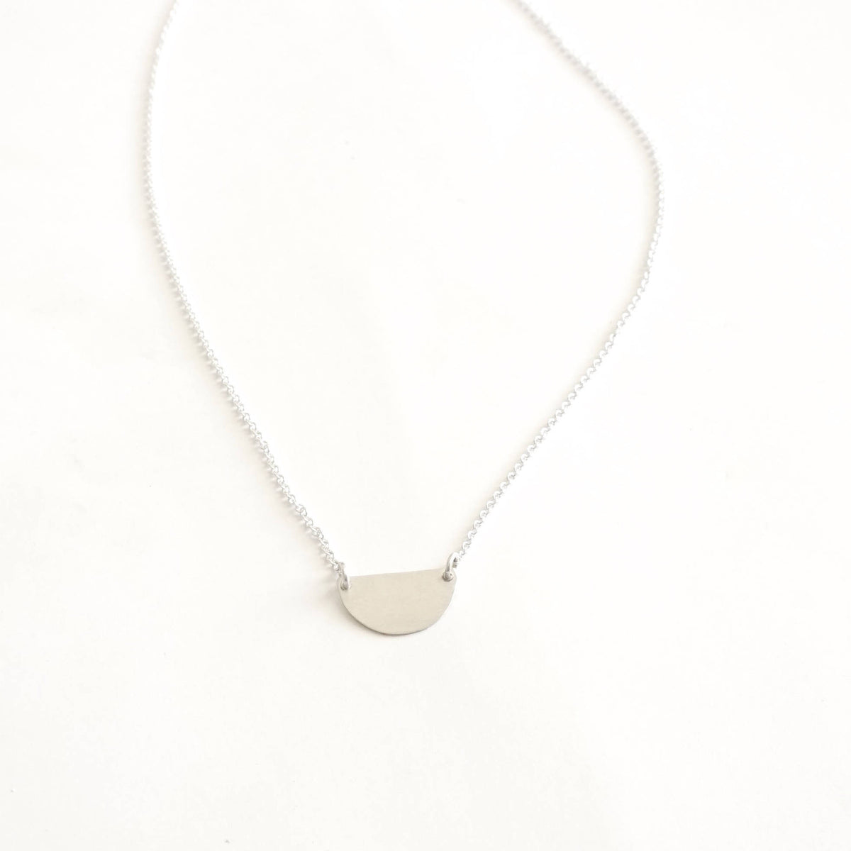 Timeless Simplicity In This Hand-Made, Half Circle Charm Necklace - 0282 - Virginia Wynne Designs