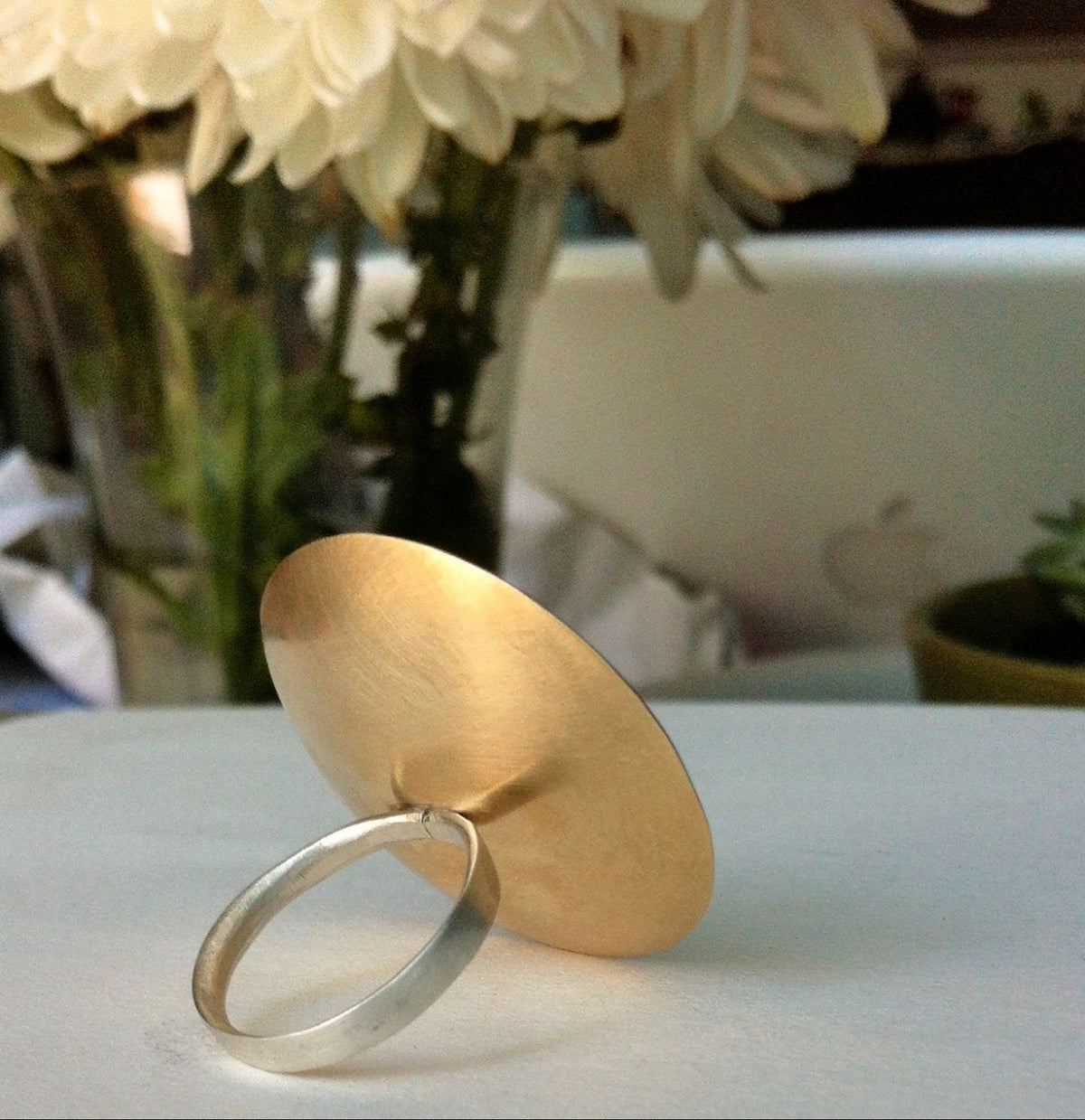 A Unique Stand-Out - Hand-Made Large Dome Ring - 0088 - Virginia Wynne Designs