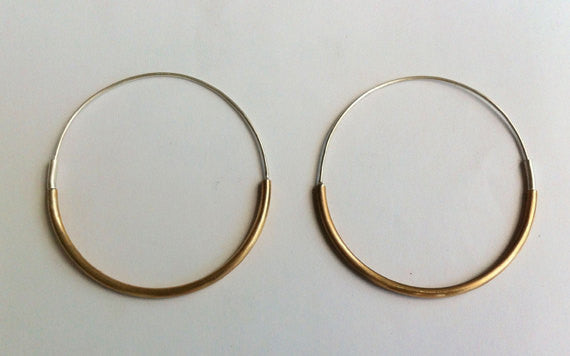 Classically Designed, Simple, Hand-Made Lightweight Large Hoop Earrings - 0056 - Virginia Wynne Designs