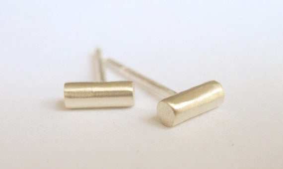 5mm Thick Round Bar Stud Earrings 0037 - Virginia Wynne Designs