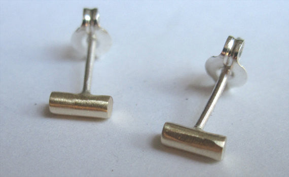 5mm Thick Round Bar Stud Earrings 0037
