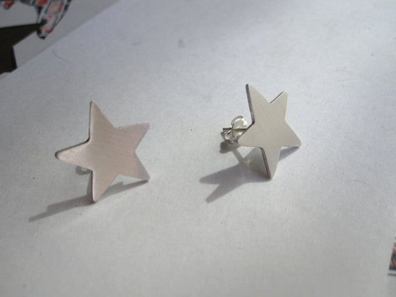 Boho Chic Hand-Crafted Star Stud Earrings - 0046 - Virginia Wynne Designs
