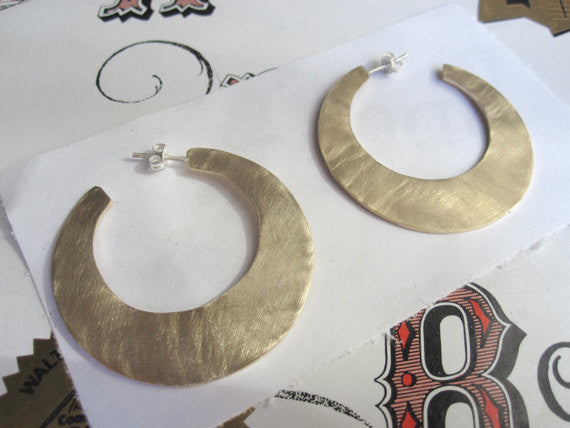 Modern Open Hoop Earrings 0054 - Virginia Wynne Designs