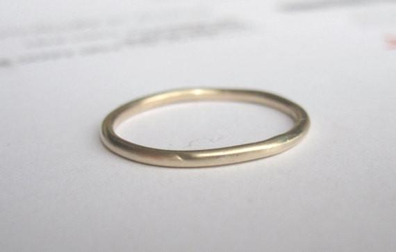 Classic Minimalist 14K Gold Stacking Ring - 0100 - Virginia Wynne Designs