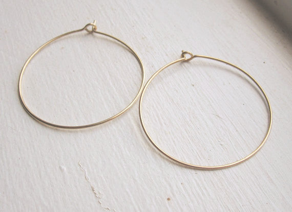 Simple Hoop Earrings 0113 - Virginia Wynne Designs