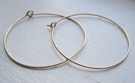 Distinctive BoHo Hand-Made Simple Hoop Earrings - 0113 - Virginia Wynne Designs