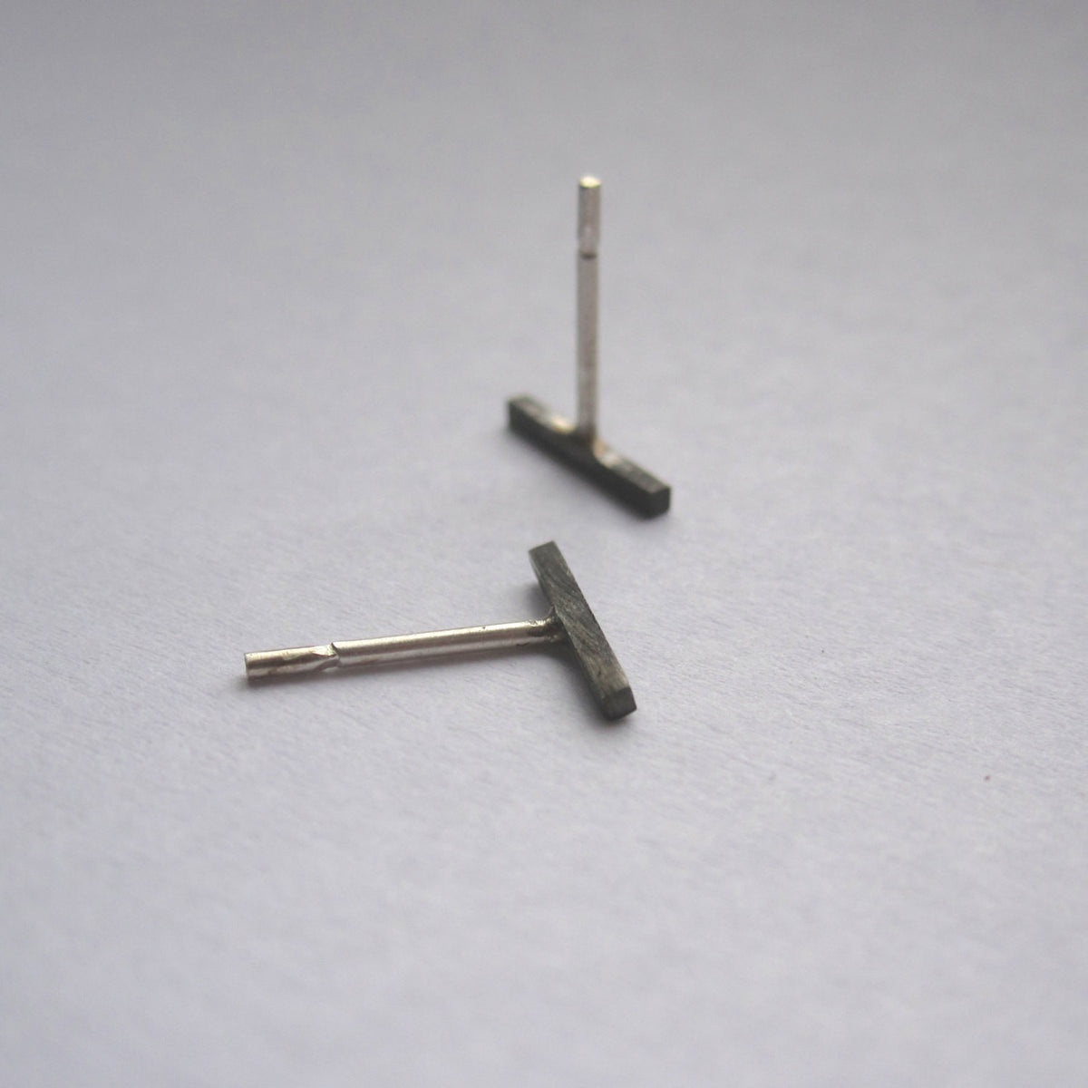 Smart & Classy Hand-Made Staple Bar Stud Earrings - 0117 - Virginia Wynne Designs