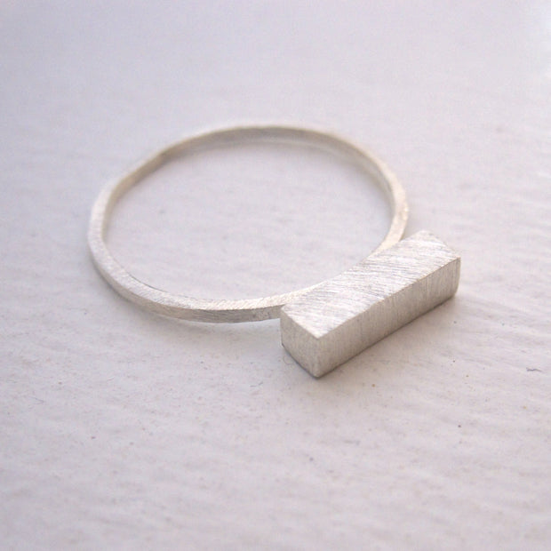 Well-Designed and Exceptional Hand-Made Thick Bar Stacking Ring, - 0105 - Virginia Wynne Designs
