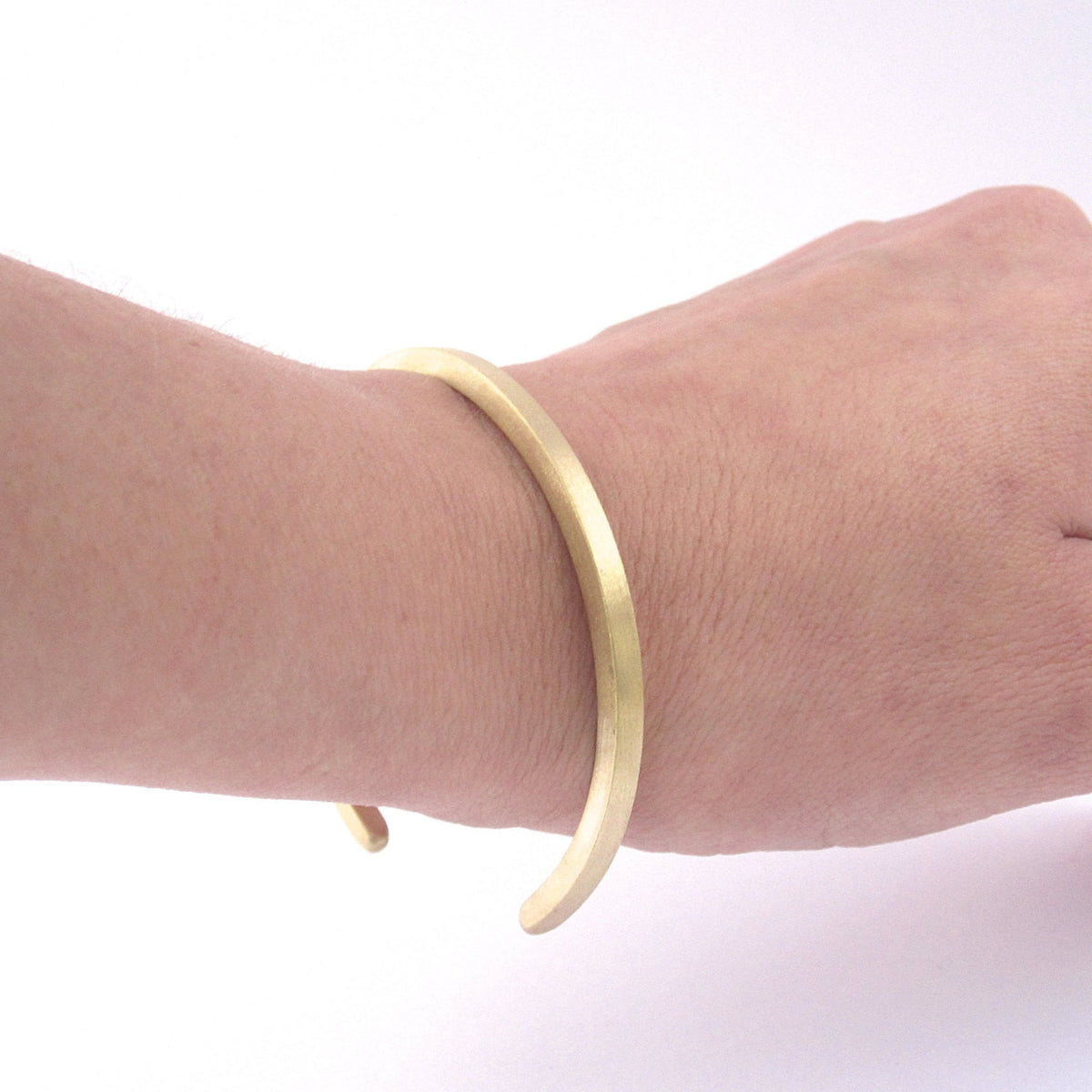 Contemporary Stylish Hand-Made Thick Square Bangle Cuff Bracelet - 0174 - Virginia Wynne Designs