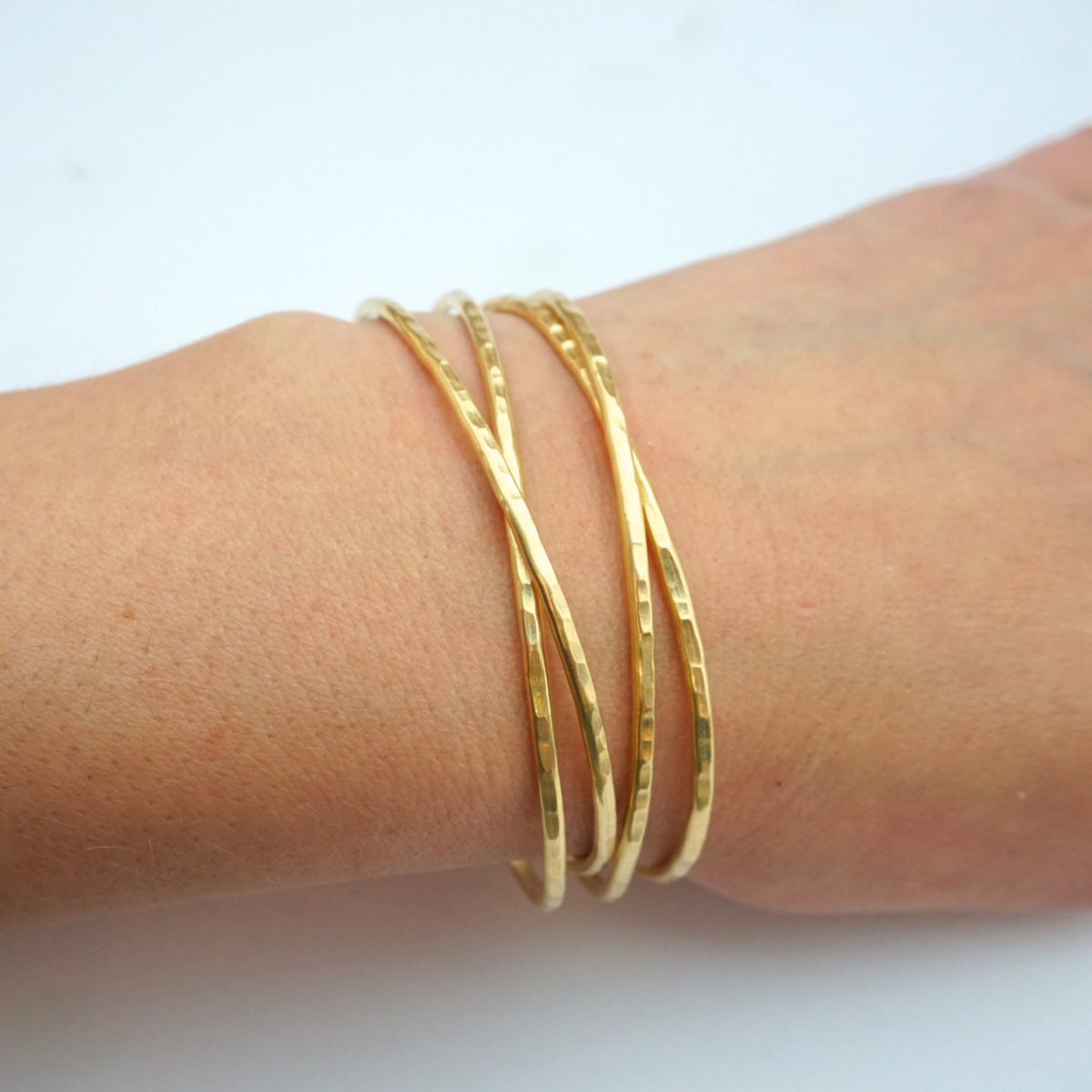 Classic Stacking Bracelets! Affordable Hand-Made Adjustable Boho Bangle Bracelets - 0079 - Virginia Wynne Designs