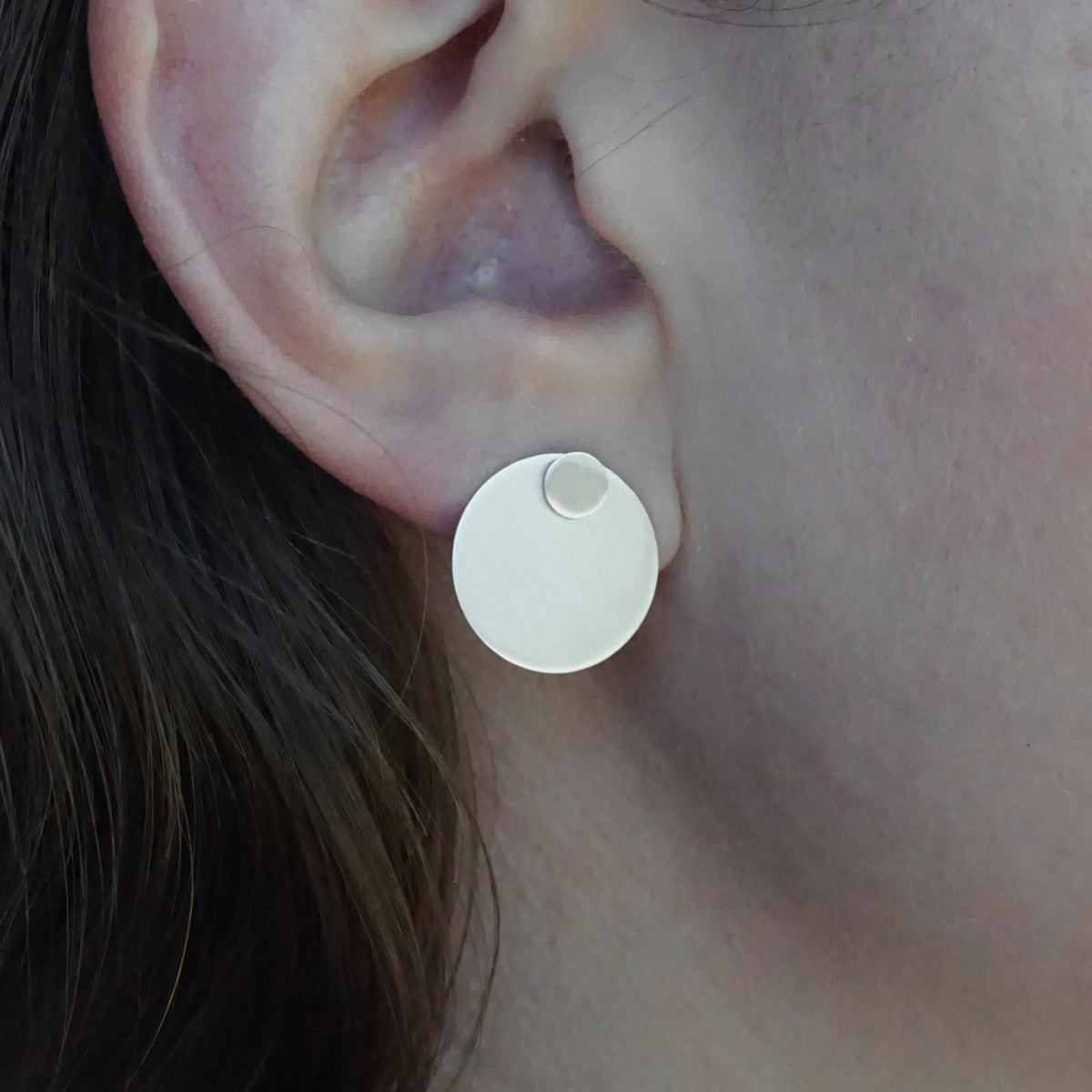 Chic Modern Hand-Made Circle Ear Jacket Stud Earrings - 0094 - Virginia Wynne Designs