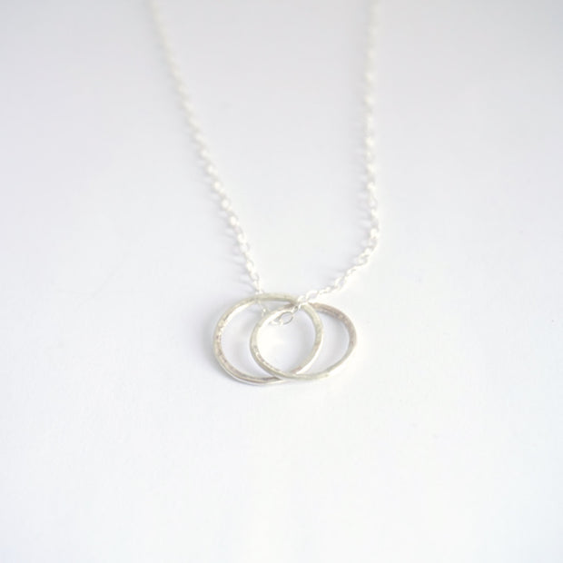 Celebrate Your Friendship With Hand-Crafted Sterling Silver Interlocking Circle Necklace  - 0142 - Virginia Wynne Designs