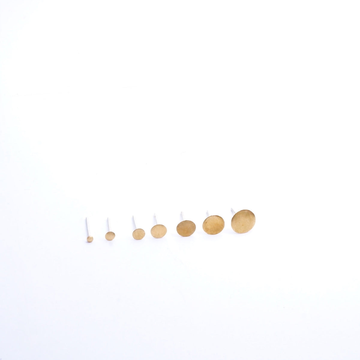 Distinctive Elegance Hand-Made Solid 14k Gold Circle Stud Earrings - 0003 - Virginia Wynne Designs