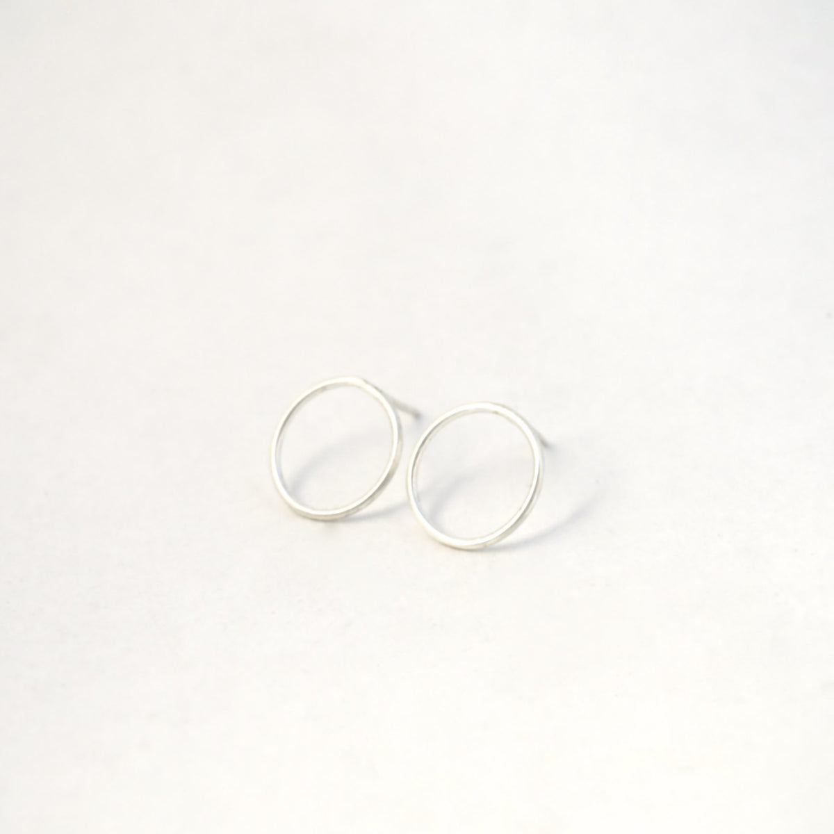 Simple, Elegant and Well Designed Hand-Made Thin Large Circle Studs - 0162 - Virginia Wynne Designs