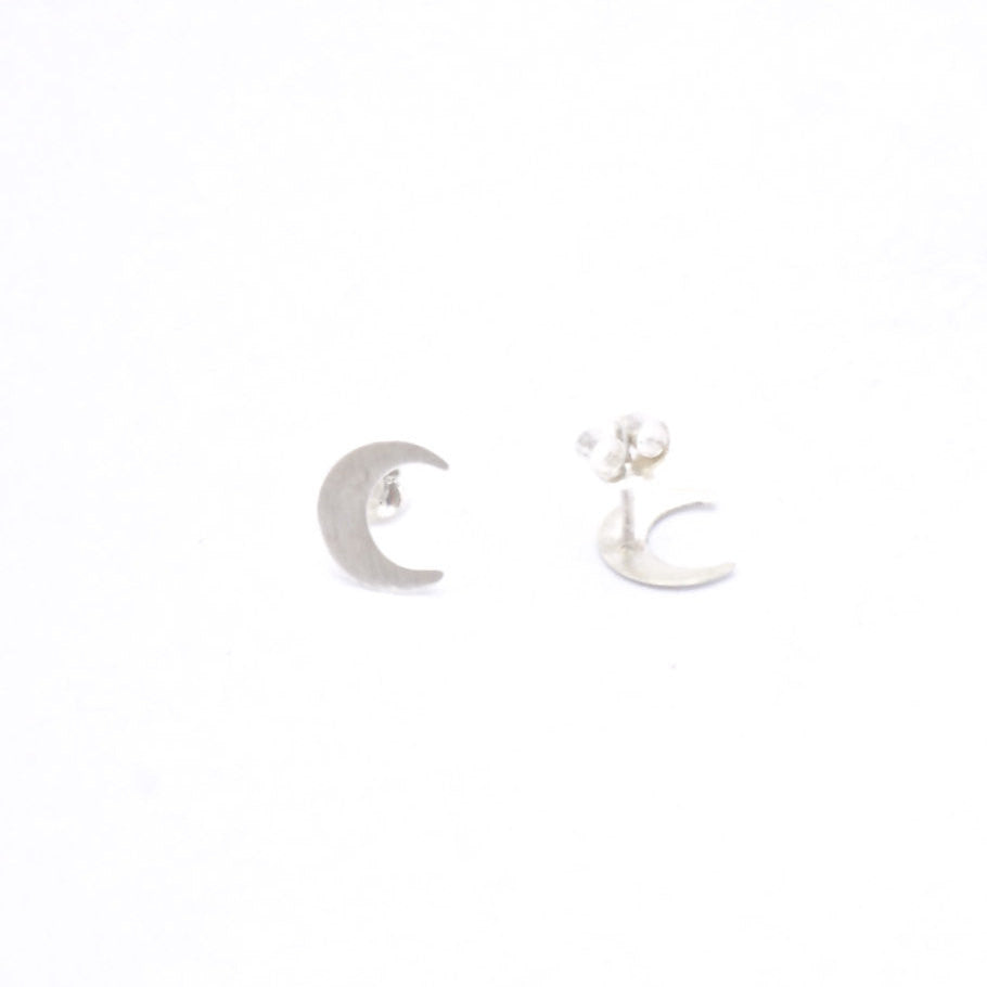 Contemporary Boho Classics - Hand-Made Cresent Moon Studs  - 0154 - Virginia Wynne Designs
