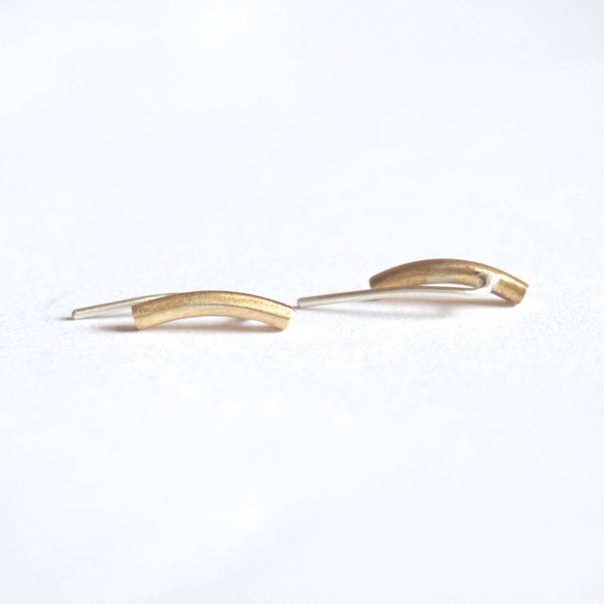Understated Yet Modern Hand-Made Small Ear Climber Earrings - 0176 - Virginia Wynne Designs