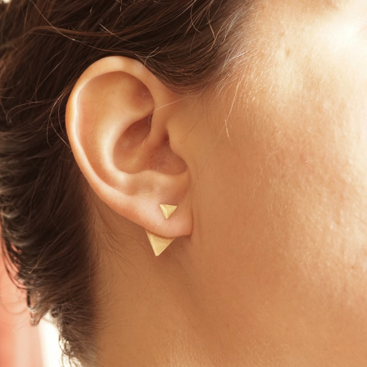 Triangle Shaped Ear Jacket Earrings 0191