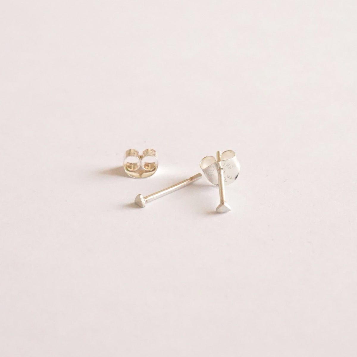 Timeless Hand-Made Sterling Silver or 14K Gold Triangle Stud Earrings - 0200 - Virginia Wynne Designs