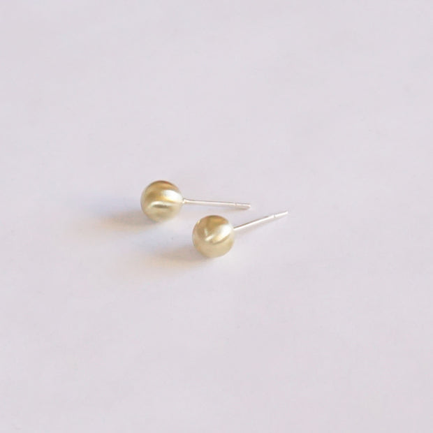 Well Designed, Sophisticated, Hand-Crafted Solid Brass Ball Stud Earrings - 0201 - Virginia Wynne Designs
