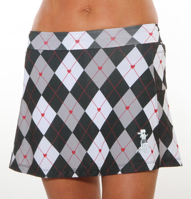 black argyle skirt waist down