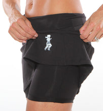 Black compression shorts