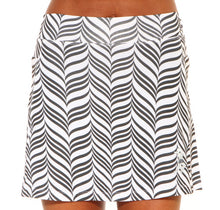 black candystripe athletic skirt