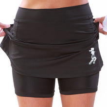 ultra athletic skirt mesh compression shorts