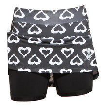 black hearts athletic skirt compression shorts